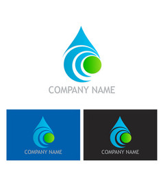 bio water drop abstract logo vector image