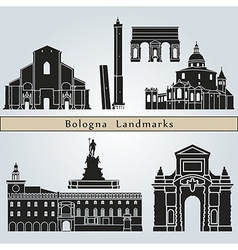 Bologna landmarks and monuments vector image vector image