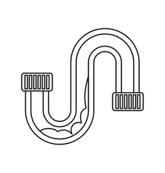 Clog in the pipe icon outline style vector