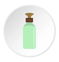 Closed vial icon circle vector