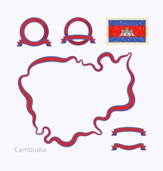 Colors of cambodia vector
