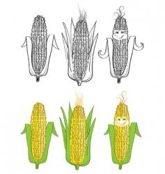 corn cartoon vector image