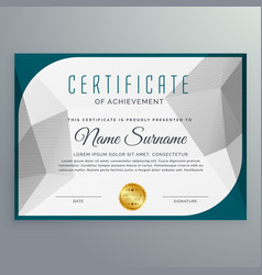 creative simple certificate design template with vector image vector image