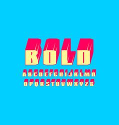Decorative sans serif extra bulk font vector