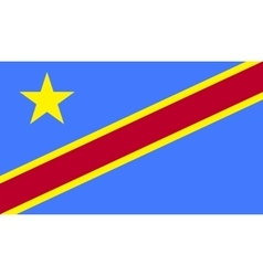 Democratic republic of the congo flag image vector