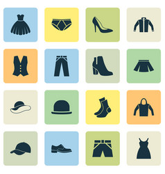 dress icons set collection of heel footwear vector image vector image