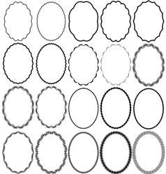 Frames oval vector