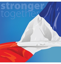 France Stronger together vector image vector image