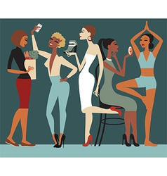 Girls Lifestyle vector image vector image