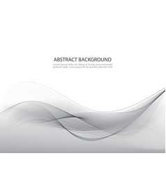 grey abstract waves grey background vector image vector image