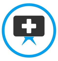 Health care presentation rounded icon vector
