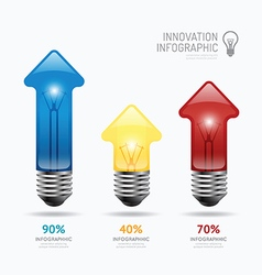 Infographic abstract lightbulb arrow template vector
