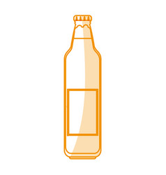 Orange silhouette shading cartoon bottle glass of vector