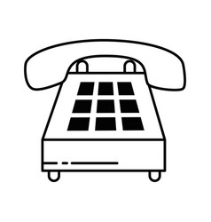 phone service isolated icon vector image