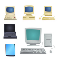 retro computer item classic antique technology vector image vector image