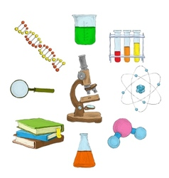 Science decorative elements vector