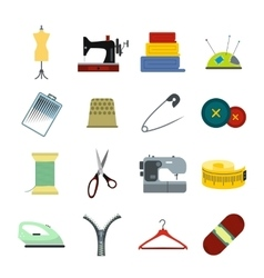 Sewing flat icon vector