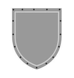 shield badge symbol vector image vector image
