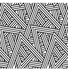 Stripe triangle pattern vector image vector image