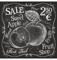 sweet apple logo design template fresh vector image