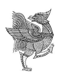Thai tradition artNok Thet bird vector image vector image