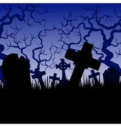 tombs and trees vector image