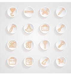 Tools functions menu icons set vector image