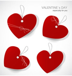 Valentines day tags vector image vector image