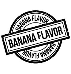 Banana Flavor rubber stamp vector image