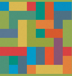 Colorful brick seamless pattern abstract retro vector