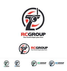 radio control vehicle group logo vector image