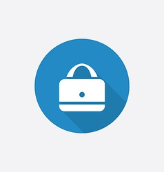 Purse flat blue simple icon with long shadow vector