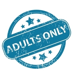 Adults only round stamp vector