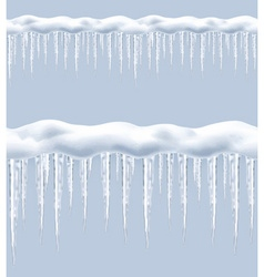 Icicles seamless border vector