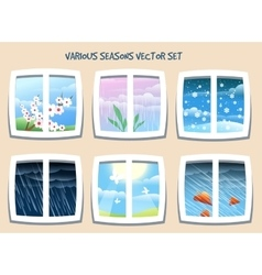 Various seasons set vector