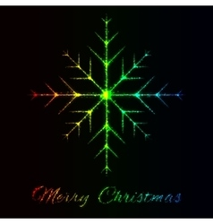 Merry christmas of lights vector