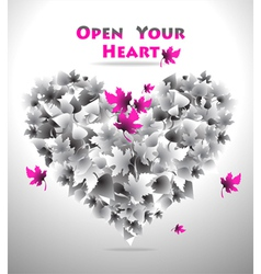 Open your heart vector
