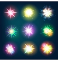 Glow light effect stars bursts eps 10 vector