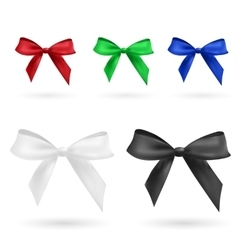 Red green blue black and white bow vector