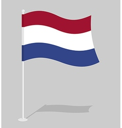 Netherlands flag official national symbol of vector