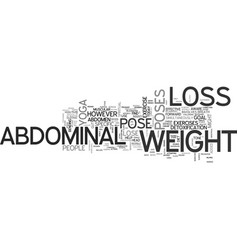 abdominal weight loss yoga can help you lose the vector image vector image