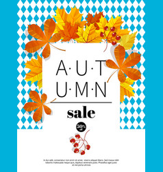 Autumn sale vintage typography poster with vector