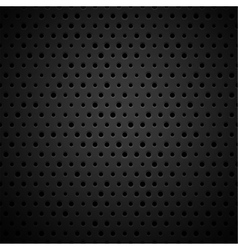 Black metal or plastic texture with holes vector image