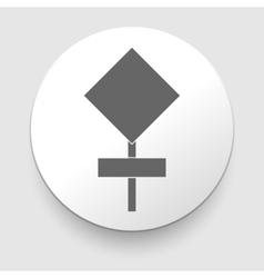 Blank road sign on white background vector