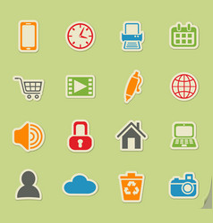 Blog icon set vector
