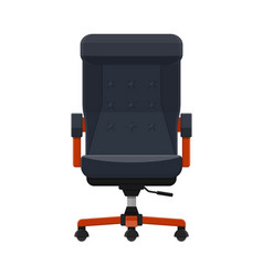 Boss or ceo chair leather armchair vector