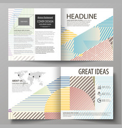 Business templates for bi fold square brochure vector