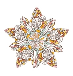 Colorful mandala Ornament for coloring vector image vector image