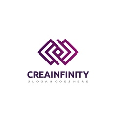 Creative infinity logo vector