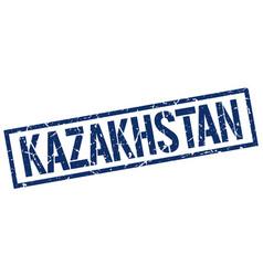 Kazakhstan blue square stamp vector
